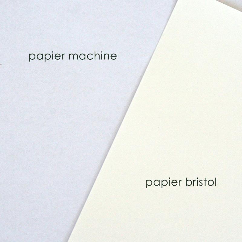 papier machine et papier bristol pour feutre à alcool