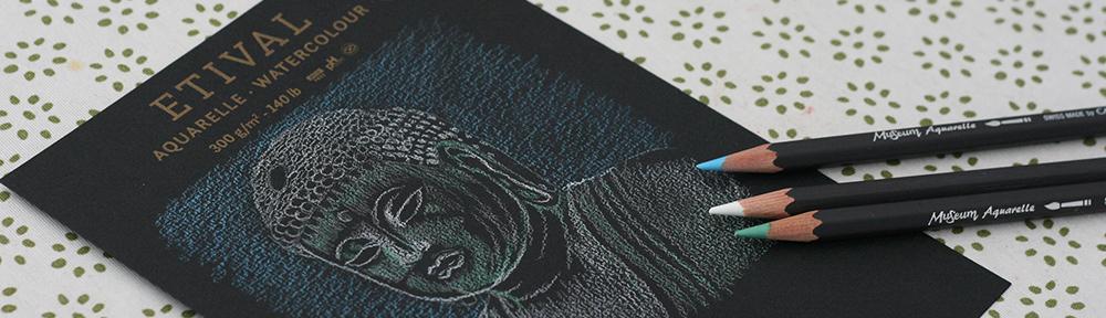 feuille de papier Etival aquarelle noir Clairefontaine