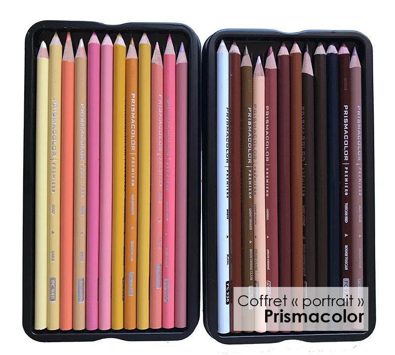 Crayons Prismacolor pour la peau
