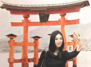 Torii Miyajima au crayon