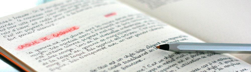 Cahier d'écriture au stylo Cristal ReNew