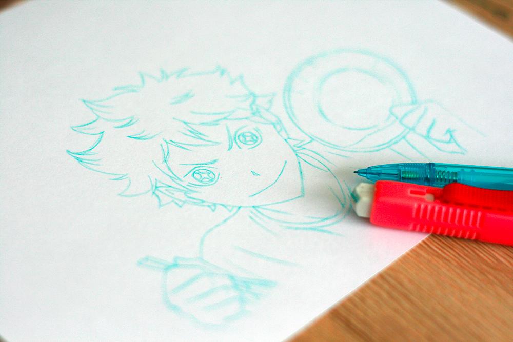 Test du crayon sur papier bristol Monali