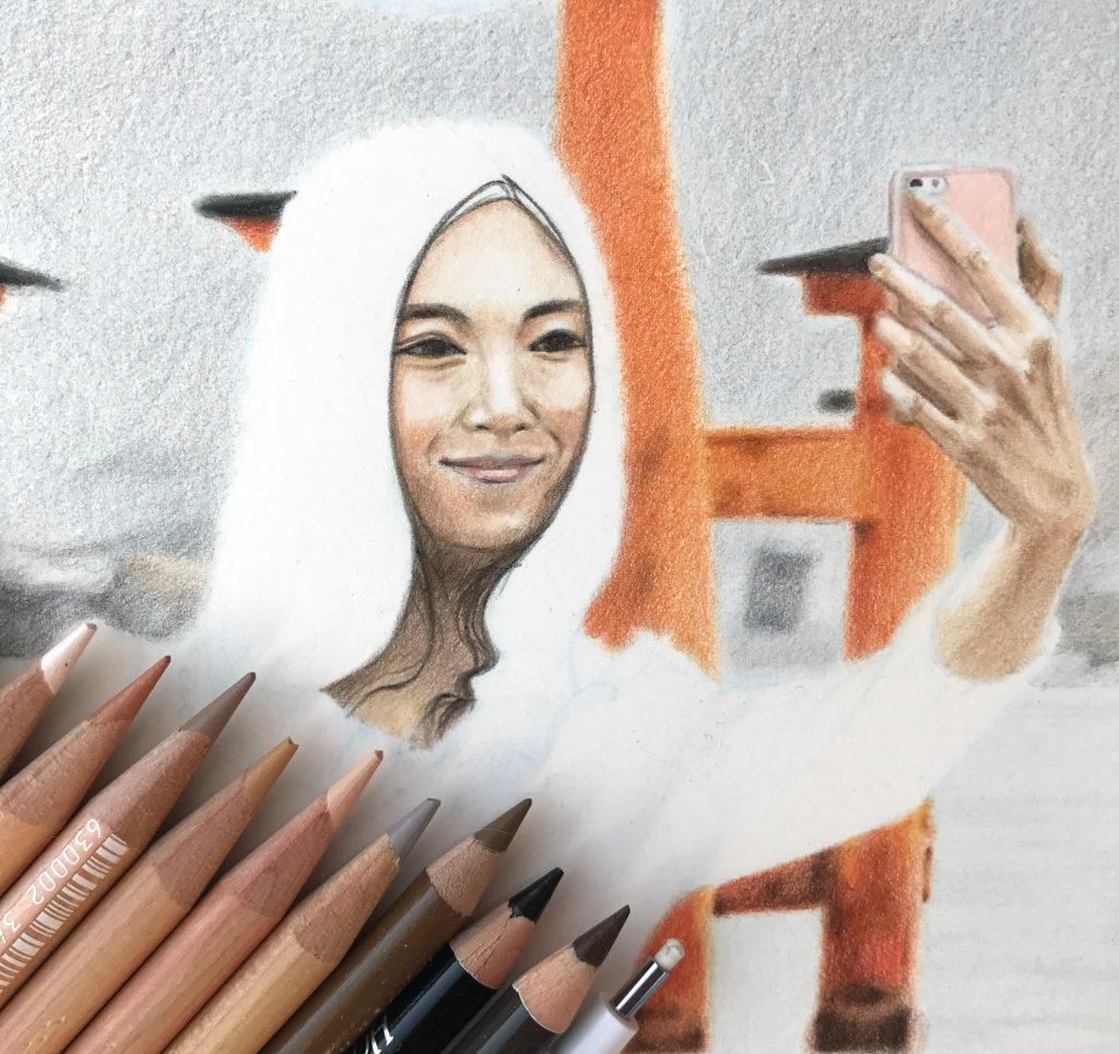 Photo à Miyajima - Crayon de couleur chair